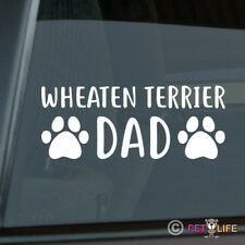 Wheaten Terrier Dad Sticker Die Cut Vinyl - irish soft coat wheatie dog