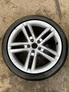 """1 x Audi 18"""" 5 Double Spoke SILVER Alloy Wheel Genuine A4 S4 B8 8K S Line + TYRE"""