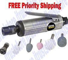 Mini Air Powered Straight Die Grinder Rotary Grinding Tool Kit 1/4 1/8 in Collet