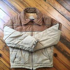 Vintage 70s Weather Watcher Puffer Jacket Convertible Vest Men's Medium