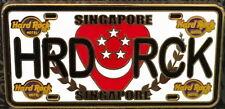 "Hard Rock Hotel SINGAPORE 2018 LICENSE PLATE Series Core PIN ""HRD RCK"" - #97757"