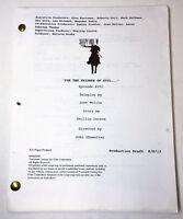 SLEEPY HOLLOW tv show set used script ~ EPISODE 102 Production Draft
