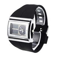 OHSEN Waterproof Digital LCD Alarm Date Mens Military Rubber Watch YA