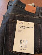 Men's GAP Kaihara Japanese Selvedge Denim Jeans Mid Rise Straight NWT 32x32