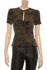 A.L.C. (ALC) Cora Paisley Silk Peplum Blouse Top Size 4 NEW $373