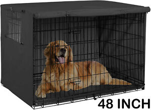 """48"""" Extra Large Giant Breed Dog Crate Kennel XL Pet Wire Cage Huge Folding Cover"""