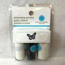Embossing Power Essentials Martha Stewart White Black Cream 3-Vials
