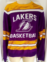 LOS ANGELES LAKERS Sweater Small or Medium Ugly Christmas Glow in the Dark New