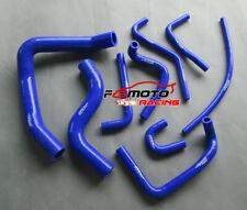 Blue FOR Mitsubishi Pajero NH NJ V6 3.0 6G72 91-96 Silicone Heater Radiator Hose