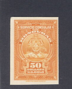 Honduras 1940's Consular service $50 US GOLD, card proof American Bank Note Co.