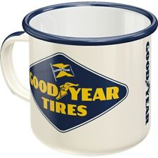 Enamel Good Year Tires Coffee Cup Souvenir Mug, 12.2oz Coffee Mug