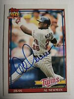 1991 Topps Al Newman Auto Autograph Card Twins Expos Signed #748