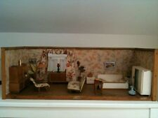 Antique French dollhouse / Vintage living room / bedroom from the years 40/50 ..