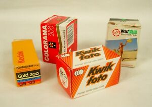 Three Various Vintage 35mm Films and One 120 Boxed Exp Between 1974 and 1992