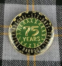 Barbour International Rare Pin Badge 75 Years| 6 Years Trial Vintage Jacket Pin