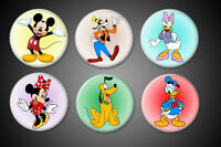 Mickey Mouse Pins Set Disney Minnie Mouse Goofy Donald Duck Daisy Pluto Pinbacks