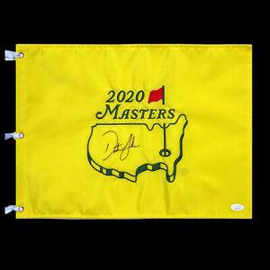 Dustin Johnson Signed Masters 2020 Golf Flag Auto ANGC Augusta National JSA LOA
