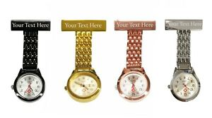 Personalised Engraved Nurse Carer Fob Watches Brooch Custom Gift Box Gold Silver