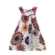 US Beach Dresses Girls Bohemian Knee-length Dresses Baby Girl for Girl Kids 120