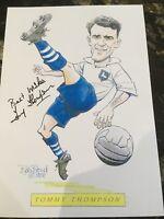 Tommy Thompson  PRESTON  North End SIGNED BOB BOND A4 Sheet Genuine Autograph