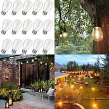 Waterproof S14 LED Light Bulbs Outdoor String Lights  E26 Base Edison