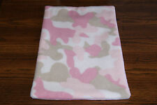 New Pink Camo #2 Fleece Dog Cat Pet Carrier Crate Bed Blanket Pad Free S/H! Bcr
