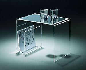 Beistelltiisch aus Acrylglas -  Material Acryl klar - transparent