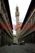 VTG Palazzo Vecchio Florence Italy Street Scene 1954 Kodak Red Border 35mm Slide