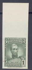 Colombia 1944, 1c Bolivar, IMPERF PROOF, from American Banknote archives, #497