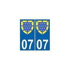 07 Ardèche autocollant plaque blason armoiries stickers département arrondis