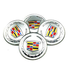"""4x 56mm 2.2"""" Silver Car Wheel Center Hub Caps Sticker For Cadillac ATS CT6 CTS"""