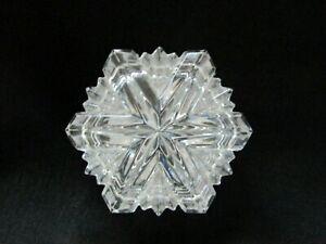 Mikasa Beautiful Cut Crystal Snowflake Shaped Trinket Box Germany