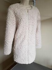 Bnwot Atmosphere Cream Faux Fur/Sheepskin Jacket/Coat UK Size 16