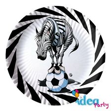 PIATTI JUVENTUS 23 cm addobbi tavola festa compleanno squadra calcio Juve 10 pz