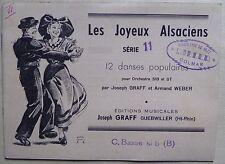 partition LES JOYEUX ALSACIENS série 11 - danses populaires - contrebasse si b