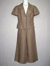 ANN TAYLOR LOFT Brown Wide Leg Cropped Pant Suit SZ 6 - 2 NEW