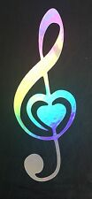 Music Note Heart Love Rainbow Holographic Car Vinyl Decal Sticker Laptop 10-83