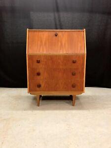 Vintage Bureau Retro Teak Desk Mid Century