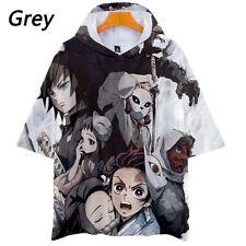 Demon Slayer: Kimetsu no Yaiba Anime Short Sleeve Hoodie T shirt! 3D!
