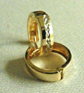 Bicolor Creolen Ohrringe für Damen,  14 Karat Gold (585) Ohrringe