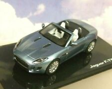 IXO 1/43 DIECAST DEALER MODEL 2013 JAGUAR F-TYPE V8 SATELLITE GREY MET BLUE-GREY