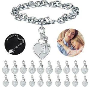 Personalised initial Charm Bracelet Letter Bracelet Birthday Christmas