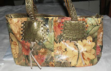 Maurizio Taiuti Floral & Goldtone 'Patches' Handbag Purse Bag Tote