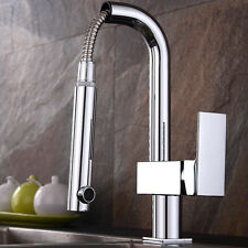 Pull out Robinet Mitigeur Lavabo Evier Laiton Chrome Mixer Tap Cuisine Bassin
