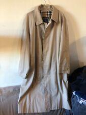 Vintage BURBERRYS' BURBERRY Beige Trench Mac Coat Jacket Size 52R