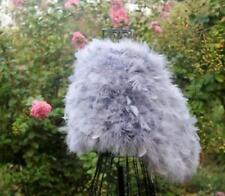 White pink grey black Ostrich Feather Fur wedding cape stole shawl bridal furry
