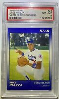 MIKE PIAZZA 1990 STAR VERO BEACH DODGERS PSA GRADED RC NM-MINT HOF