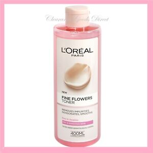 L'Oreal Paris Fine Flowers Dry Sensitive Skin Toner Rose & Jasmine Large 400ml