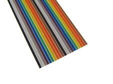 10Ft Multi-Color Flat Ribbon Zippable Cables 20 Conductors 1.27mm