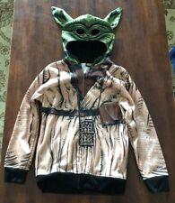 STAR WARS - YODA  - Youth Fleece Character Hoodie - Zipper Front